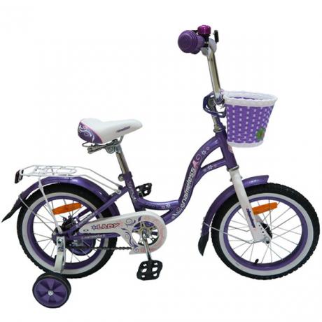 """Велосипед 12"""" Nameless Lady фиолетовый/белый"""