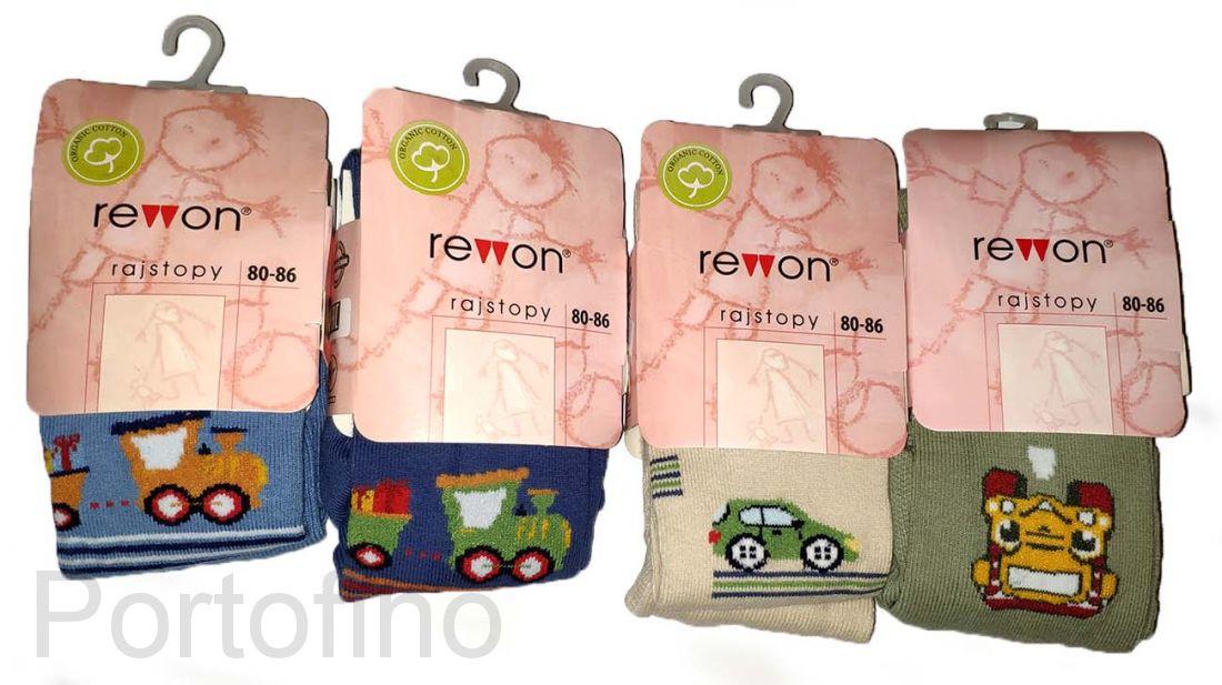 501-004G (80-86) Колготки компьютерным рисунком для мальчиков Rewon