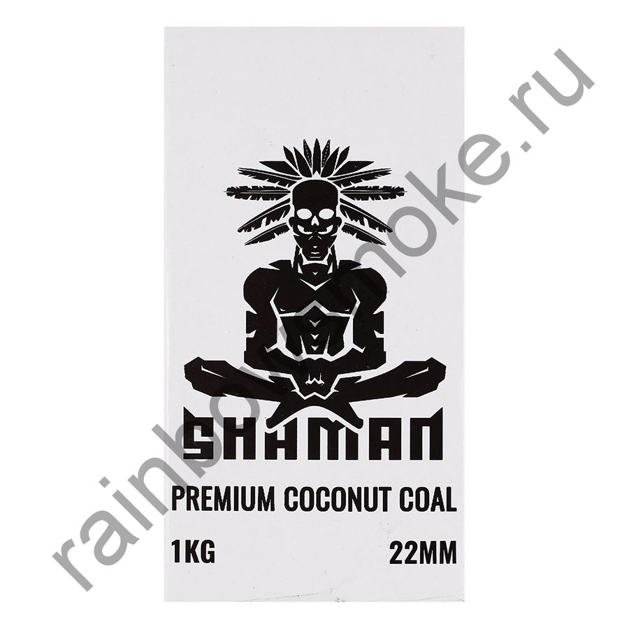Уголь кокосовый для кальяна Shaman 22мм (96шт)