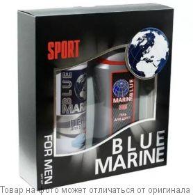 BLUE MARINE SPORT. Под.набор (Гель д/душа 250мл + Пена д/бритья 200мл) (муж), шт