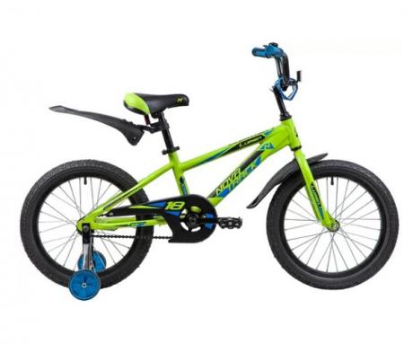"""Велосипед NOVATRACK 18"""", LUMEN, алюм.,зелёный"""