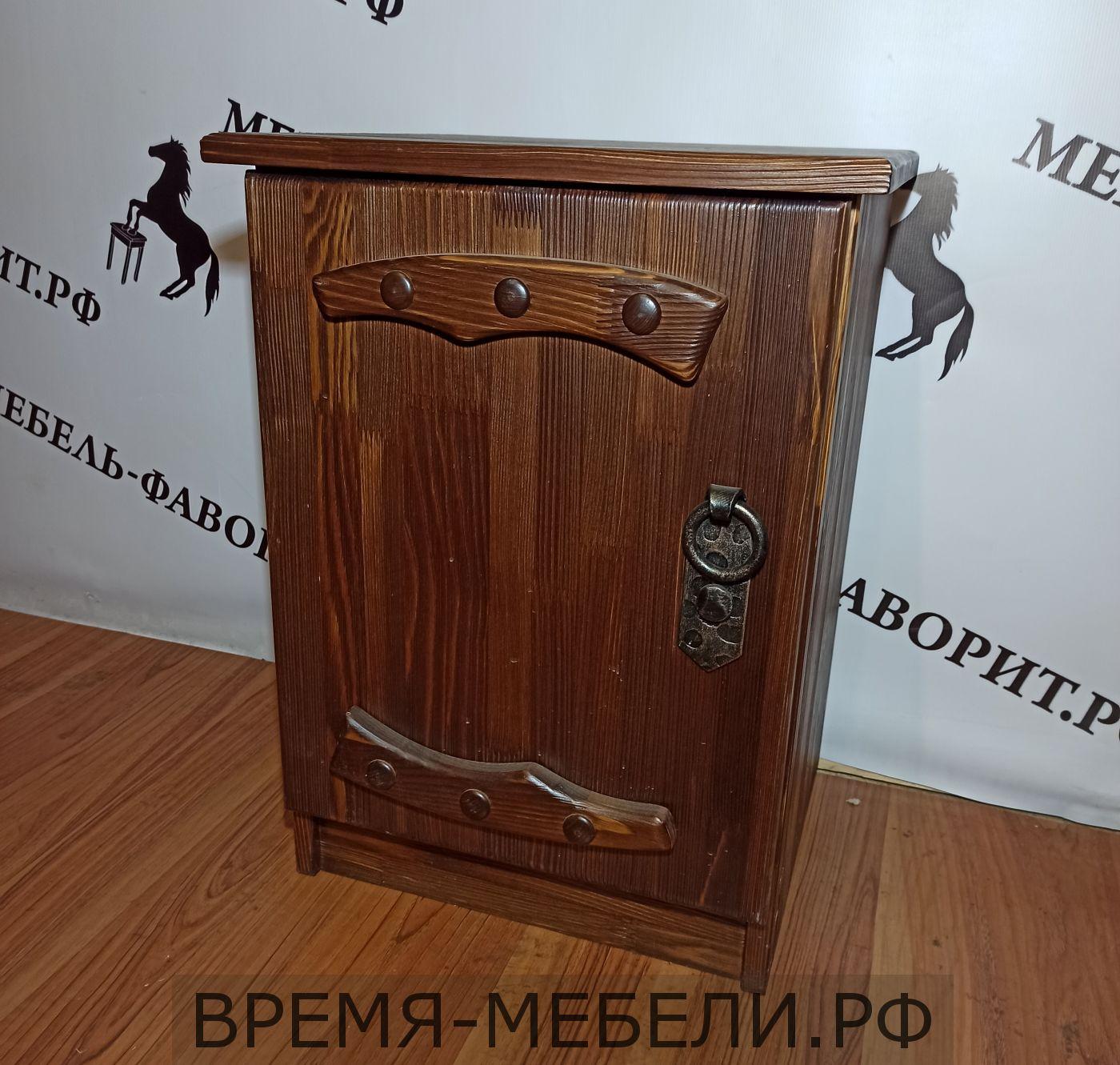 """Тумбочка """"Русич 1"""" (дверь) с элементами ковки"""