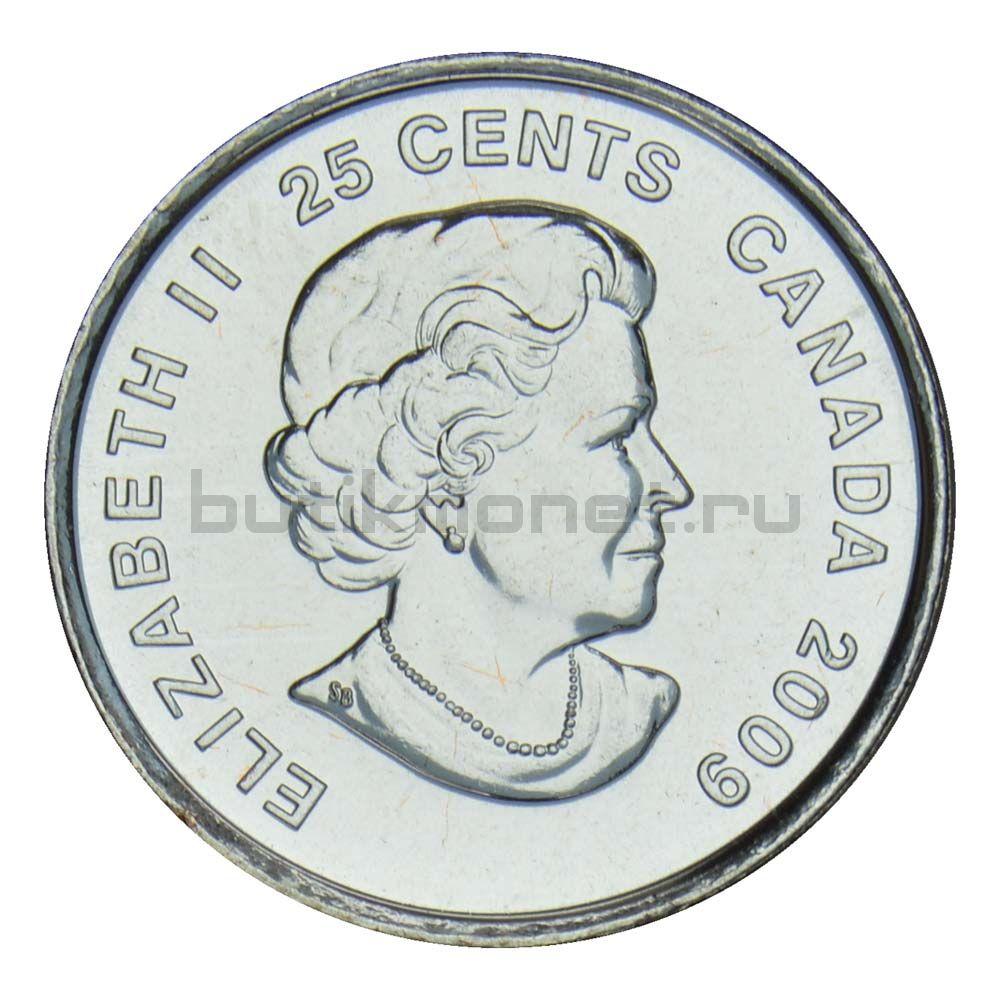 25 центов 2009 Канада Победа женской сборной по хоккею на олимпиаде Солт-Лейк-Сити 2002