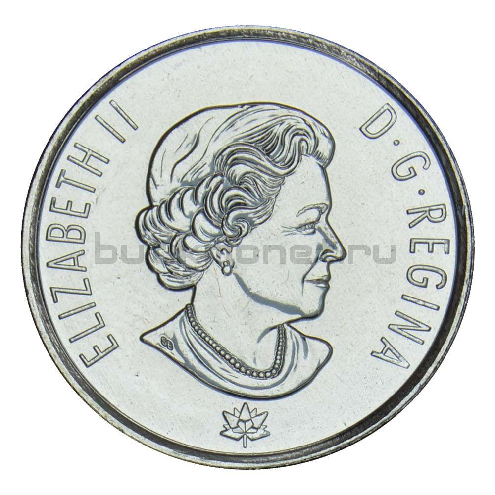 25 центов 2017 Канада Надежда на зелёное будущее (150 лет Конфедерации Канады)