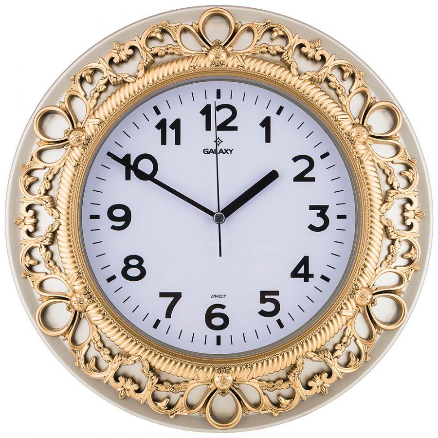 Часы настенные кварцевые диаметр 32.8 см, диаметр циферблата 20.5 см