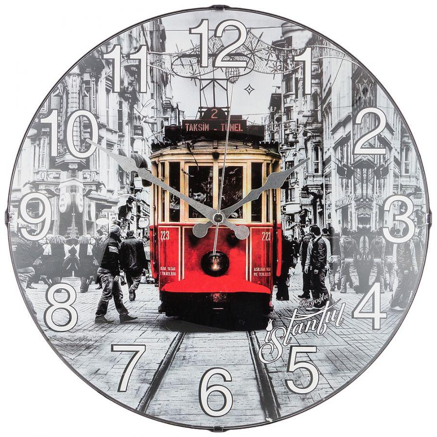 Часы настенные кварцевые диаметр 35.5 см, диаметр циферблата 34.5 см