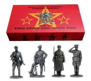 Набор №3 Красная Армия. Вторая мировая война.Оловянные солдатики