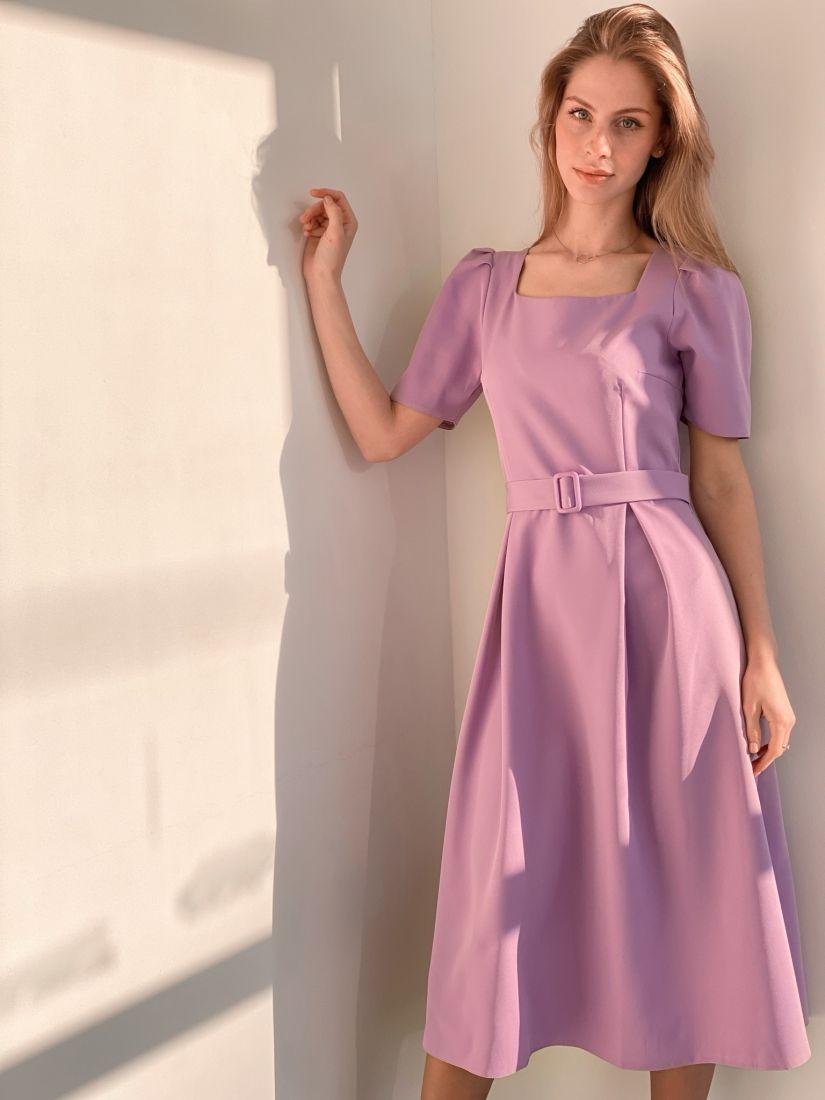 s3687 Платье в ретро-стиле лавандовое