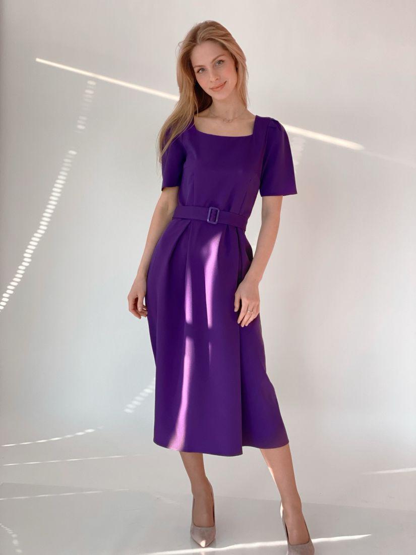 3688 Платье в ретро-стиле фиолетовое