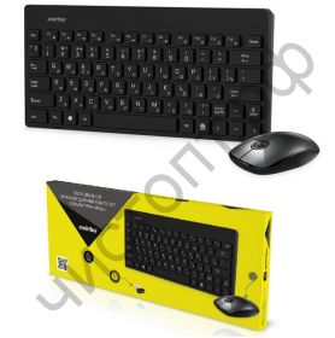 Набор (клав.+мышь) беспровод. Smartbuy 220349AG черный (SBC-220349AG-K)