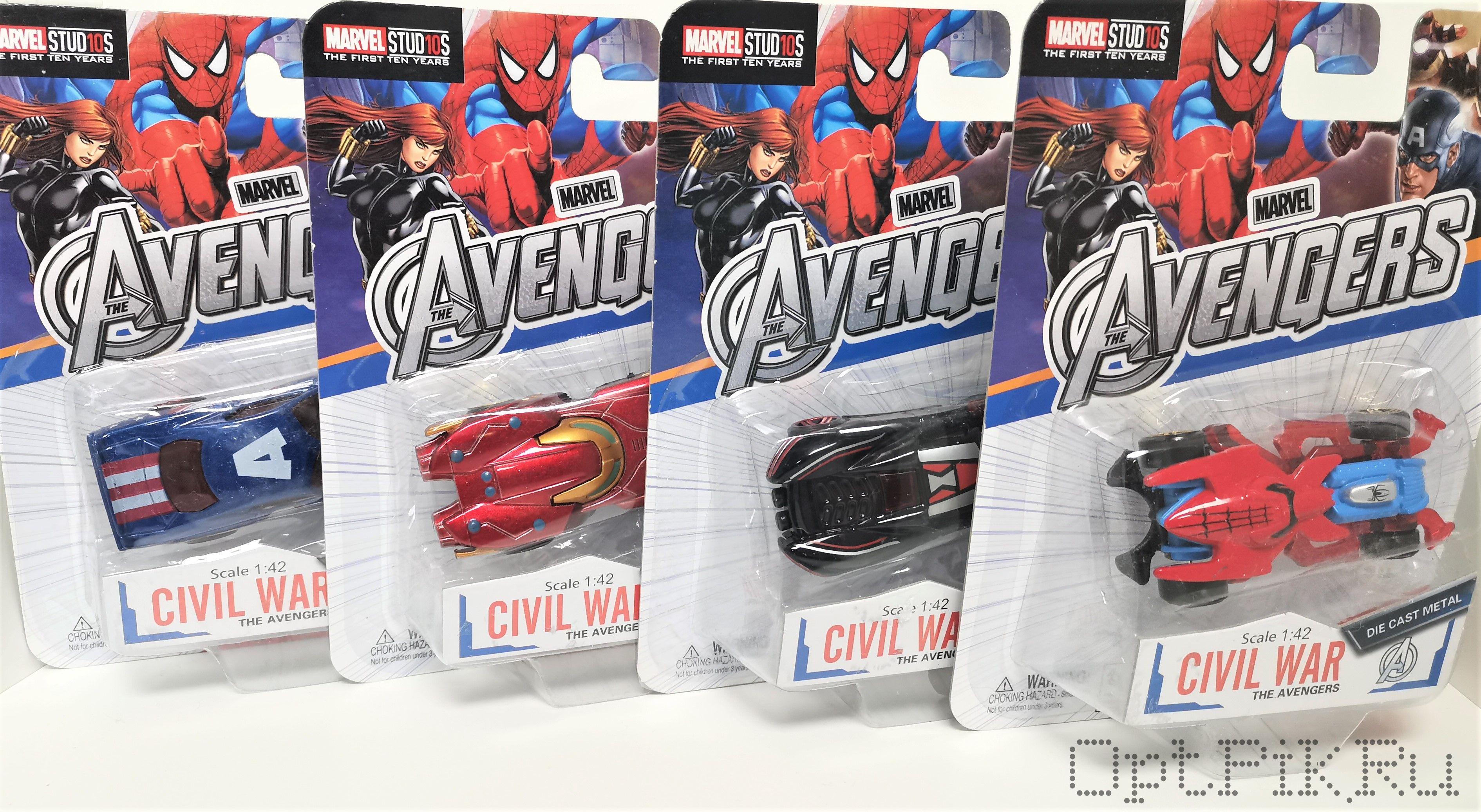Машинка Супергерои Мстители блистер в ассортименте