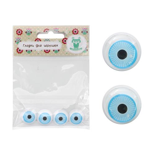 фото Глазки для игрушек клеевые бегающие 19 мм (26631)