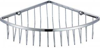Полка решетка угловая одинарная Savol S-002514-1 хром