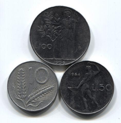 Набор монет Италия 1955-1964 4 шт. НАБ ИТ-001
