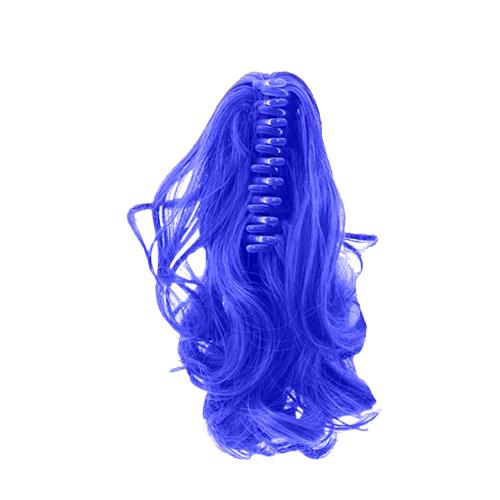 Шиньон на крабе OnTel. Цвет: синий.