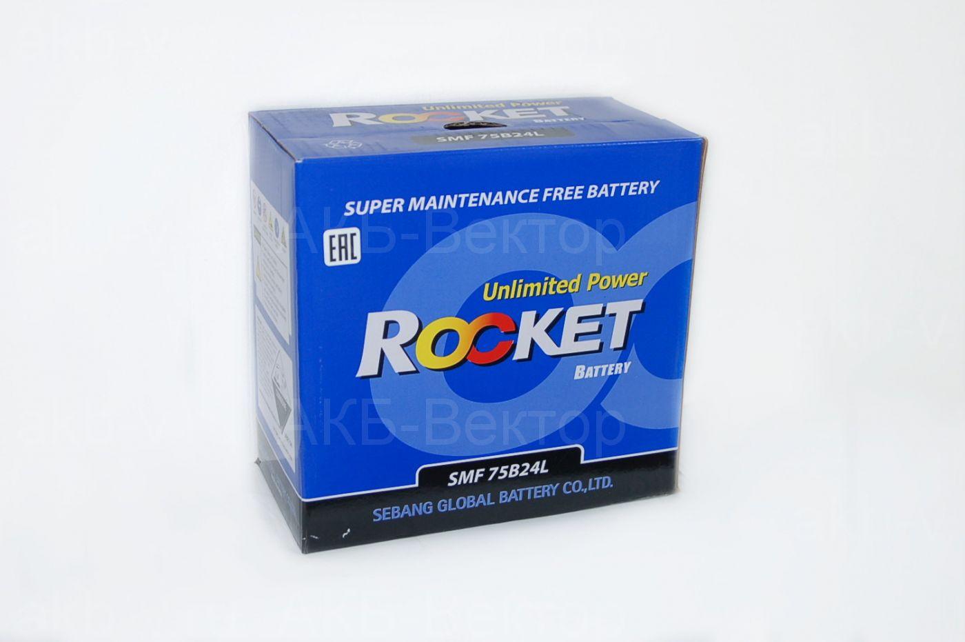 Rocket  55Ач 520A(CCA) 75B24L / 75B24R