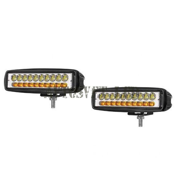 Светодиодные фары комплект K-AS20L-60W дальний бело/желтый свет
