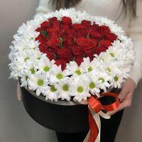 Композиция в коробке Сердце из роз