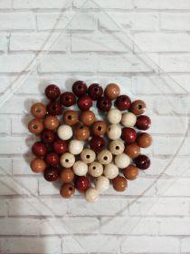 БУСИНЫ круглые НАТУРАЛЬНЫЕ Glorex размер 10 мм материал дерево ЦВЕТ ТЕМНО-КОРИЧНЕВЫЙ цена за шт
