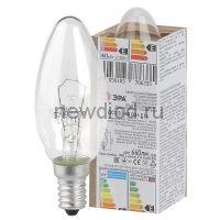 Лампа накаливания  ЭРА ДС (B36) свечка 60Вт 230В Е14 в гофре
