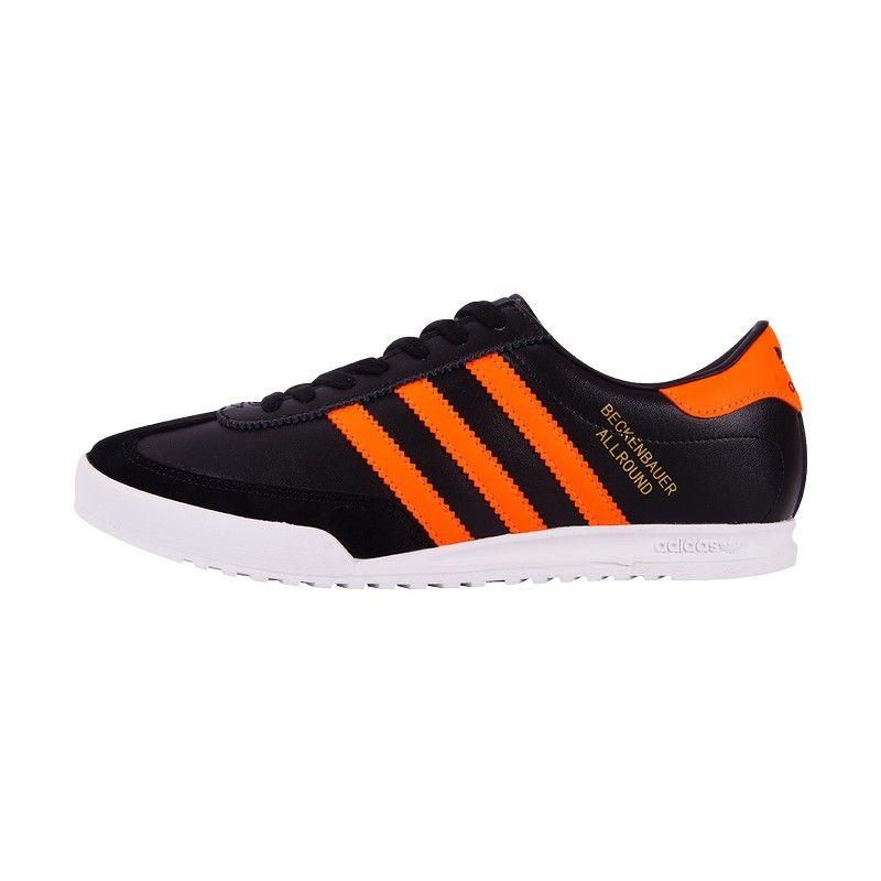 Кроссовки Adidas Beckenbauer Allround черные/оранж