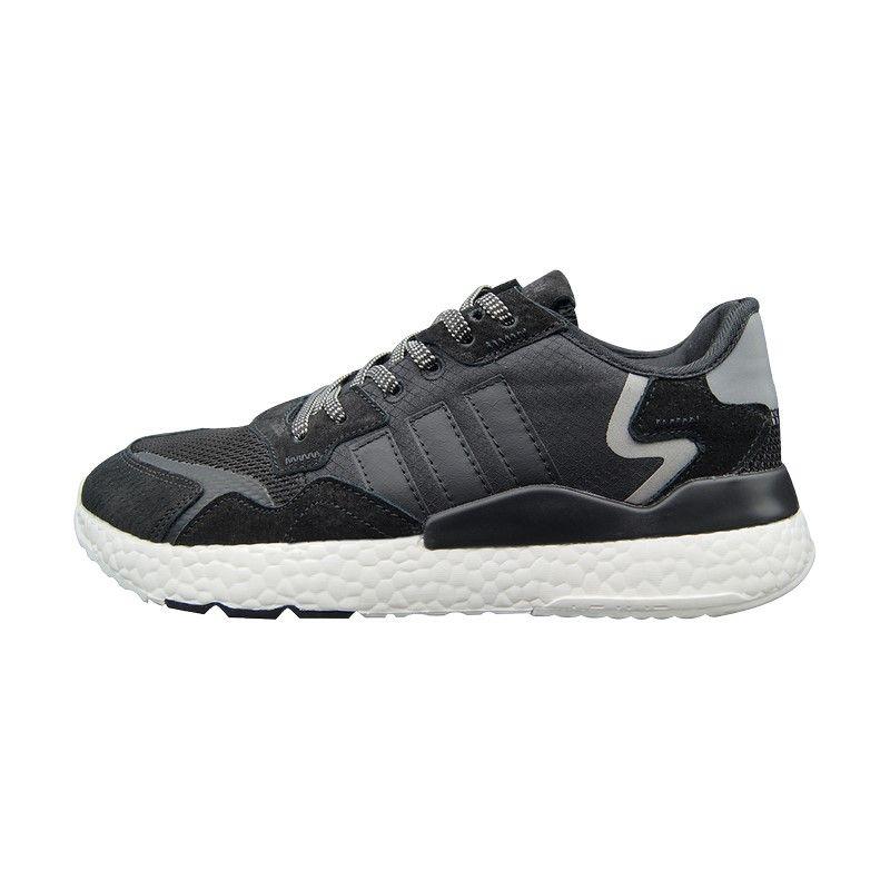 Кроссовки Adidas Nite Jogger черно-белые