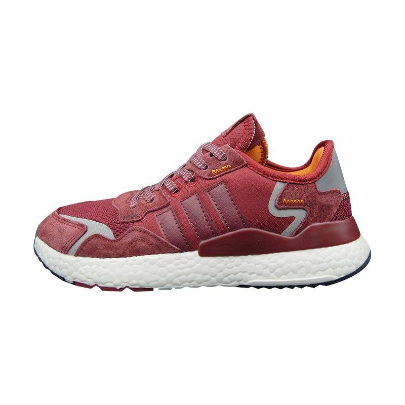 Кроссовки Adidas Nite Jogger красно-белые