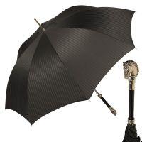 Зонт-трость Pasotti Horse Silver StripesM Black