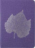 Ежедневник Index Leaf, недатированный, с ляссе, формат A5, IDN124/A5/LD, лавандовый, 168 листов