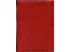 Еженедельник NATURE, кожзам, красный, лин., недатиров., ляссе, 128с.,ф.А4(210*295мм)