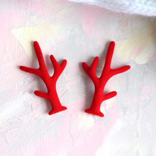 Аксессуар для куклы - Красные оленьи рога