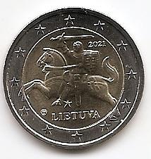 2 евро Литва 2020 регулярная