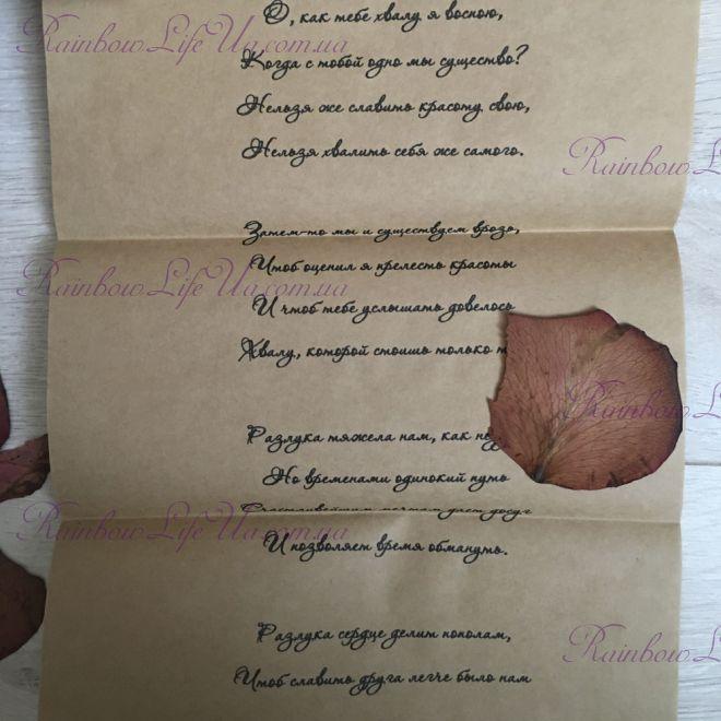"""Романтическое письмо в стихах """"Уильям Шекспир"""""""