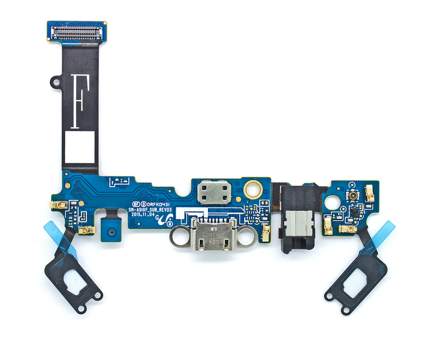 FLC (Шлейф) Samsung A510F Galaxy A5 (2016) (на системный разъём, разъём гарнитуры и микрофон) Аналог