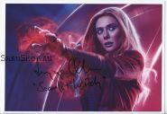 Автограф: Элизабет Олсен. Мстители: Война бесконечности