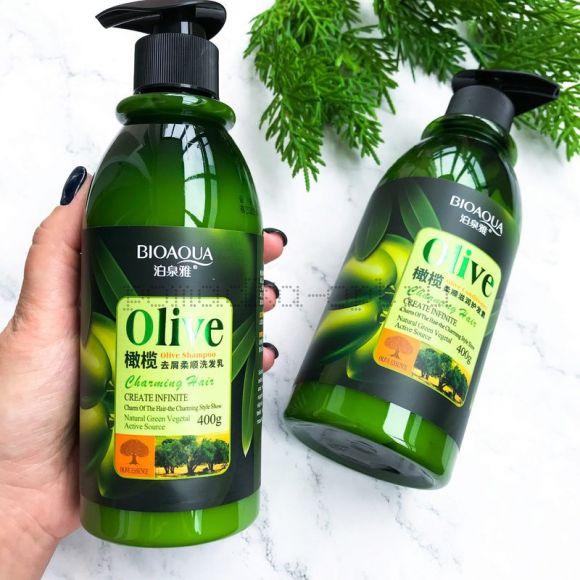 Оригинал Шампунь для волос BioAqua Charming Hair Olive Shampoo Шампунь для ежедневного очищения волос и кожи головы с маслом оливы