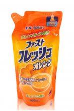 """DAIICHI """"Фреш Оранж"""" Средство для мытья посуды, овощей и фруктов, 500 мл (запасной блок)"""