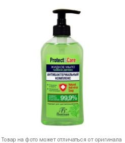 """Флоресан.Protect & Care.Жидкое мыло для рук Антибактериальный комплекс""""Чайное дерево"""" 500мл, шт"""