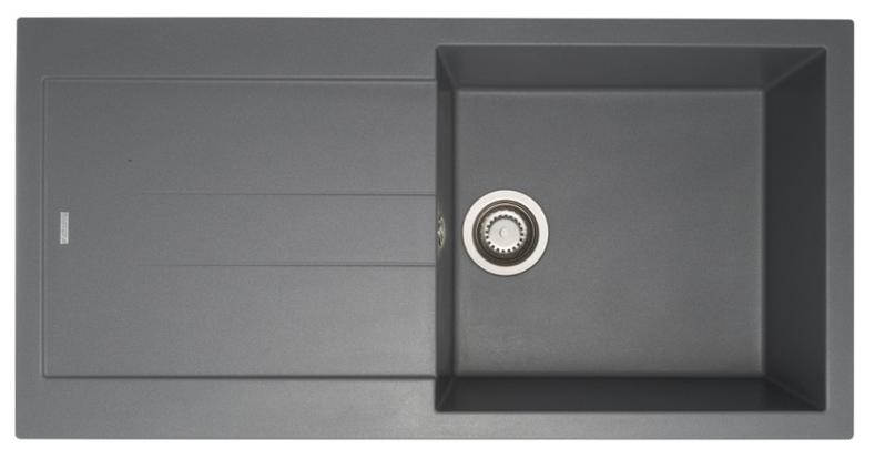 Врезная кухонная мойка Longran Amanda AMG 990.500 99х50см искусственный гранит