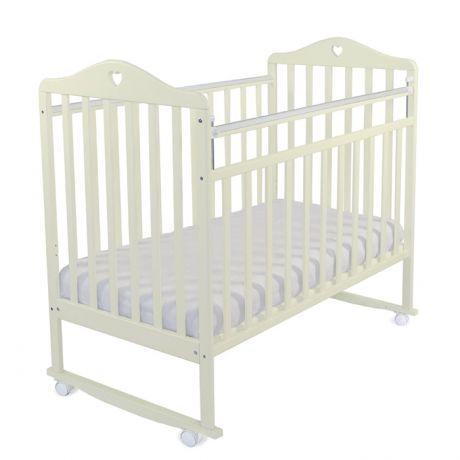 Детская кроватка «Ивашка-1 с сердечком» (колесо, качалка)