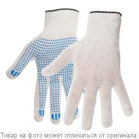 Перчатки х/б с ПВХ 10 класс,5-нитка Белые, шт