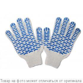 Перчатки х/б с ПВХ 10 класс,6-нитка Волна, шт