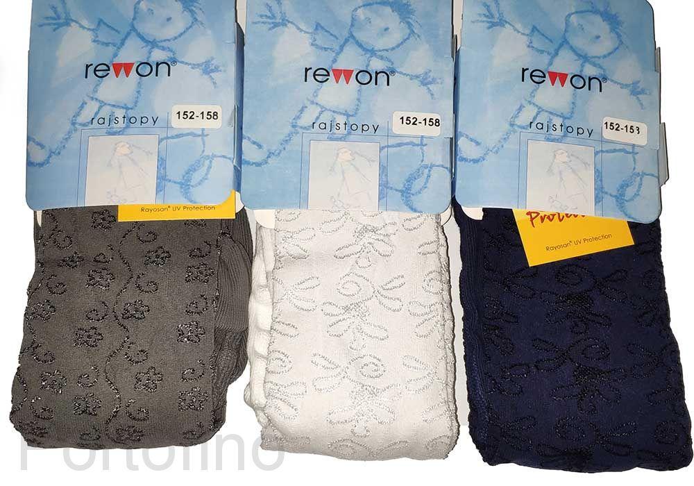 503-009G  (152/158) Колготки с добавлением вискозы для девочек   Rewon