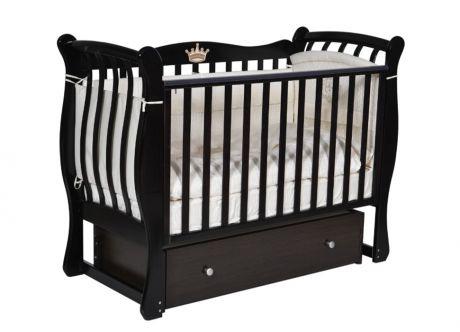 Детская кровать Кедр Viola-3 с маятником, ящиком и автостенкой