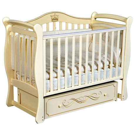 Детская кровать Кедр Bella 1 с универсальным маятником и ящиком закрытого типа