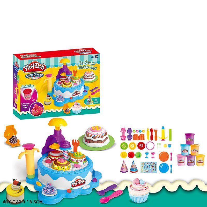 """Игровой набор для лепки с пластилином Play Doh """"Машина для мороженого"""" (677-C507)"""