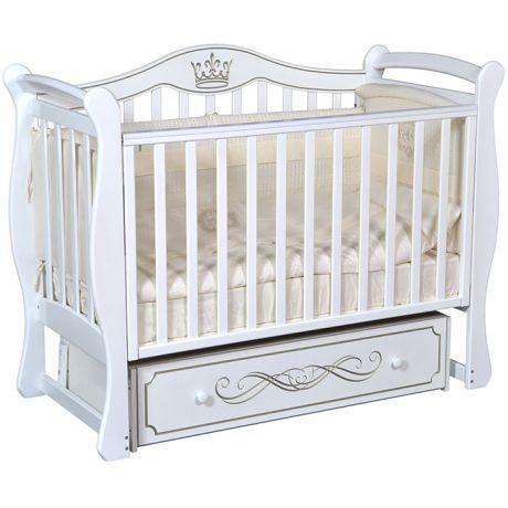 Детская кровать Кедр Grace 1 с маятником и ящиком