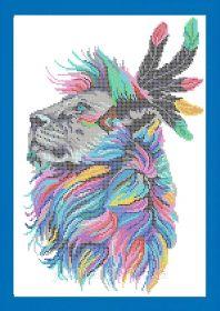 ЮМА ЮМА-3363 Лев схема для вышивки бисером купить оптом в магазине Золотая Игла - вышивка бисером
