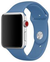 CASEY Ремешок силиконовый для Apple Watch 42/44mm Синий деним