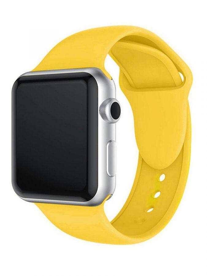 CASEY Ремешок силиконовый для Apple Watch 38/40mm Светло-желтый